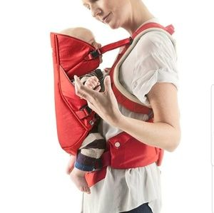Stokke MyCarrier baby carrier, front and back
